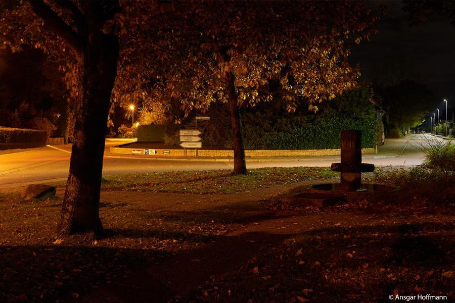 Straßenbeleuchtung auf LED umgestellt